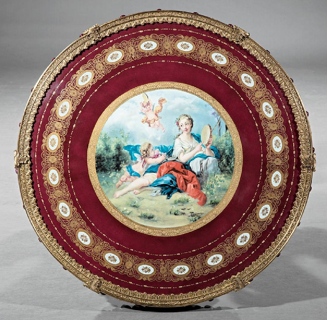 Vienna-Style Bronze and Porcelain Center Table - 2