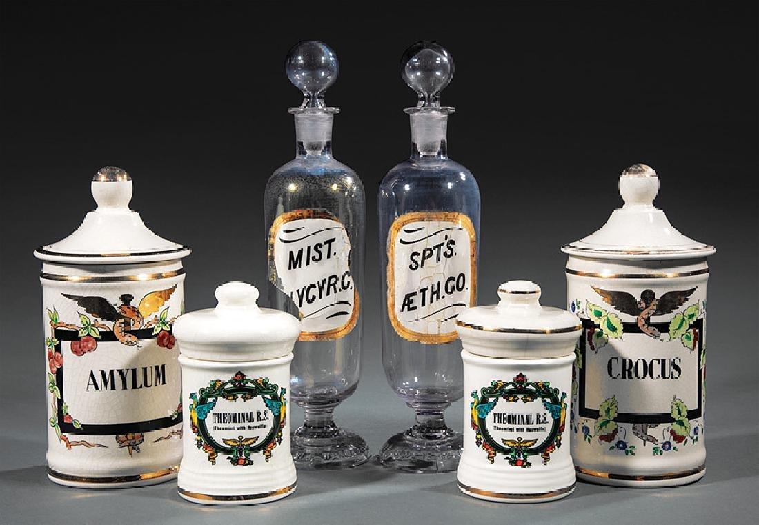 "American Glass Apothecary Jars, ""W.R. Warner & Co."""