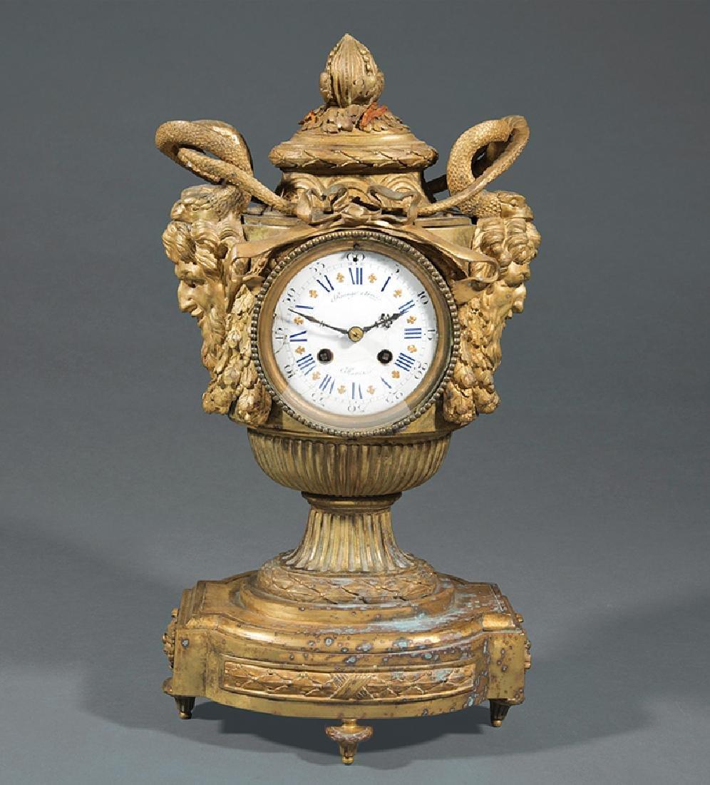 Napoleon III Bronze Mantel Clock
