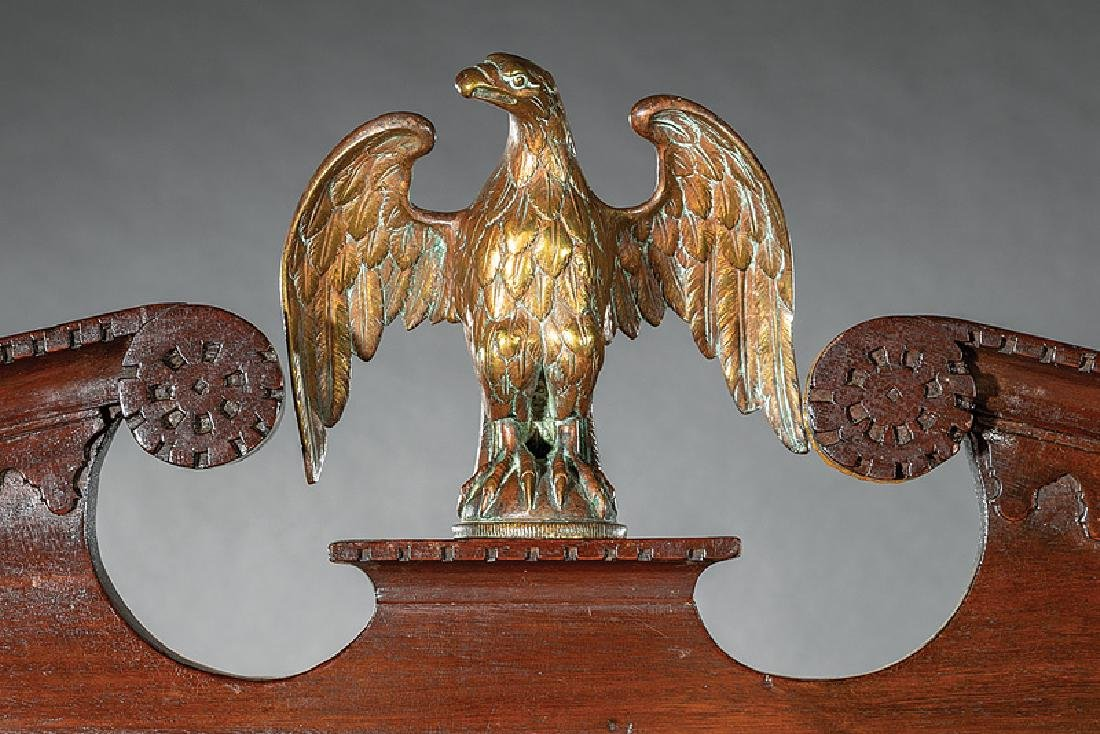 George III-Style Carved Mahogany Secretary Bookcase - 3