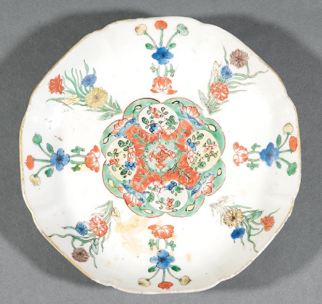 Chinese Islamic-Style Famille Verte Porcelain Dish