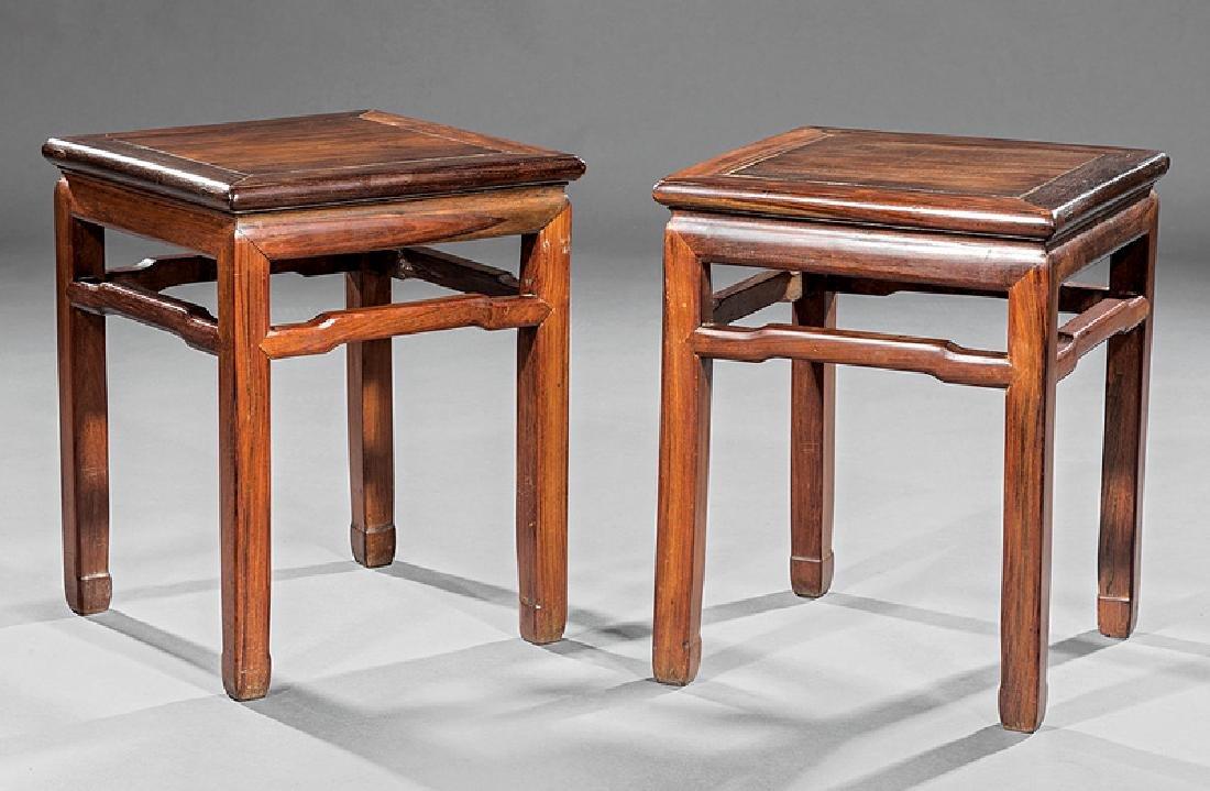 Pair of Chinese Hardwood Stools