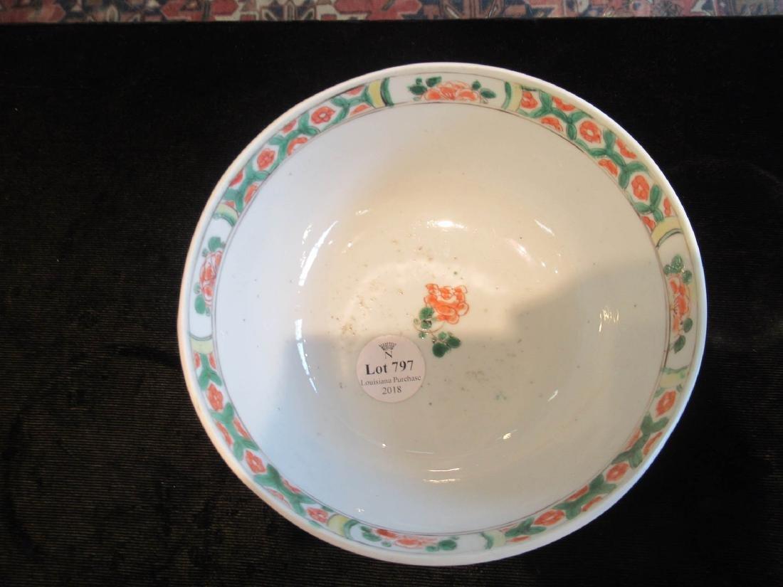 Chinese Famille Verte Porcelain Bowl - 3