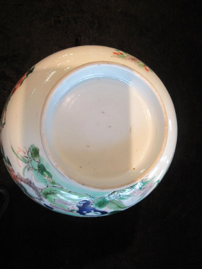 Chinese Famille Verte Porcelain Bowl - 4