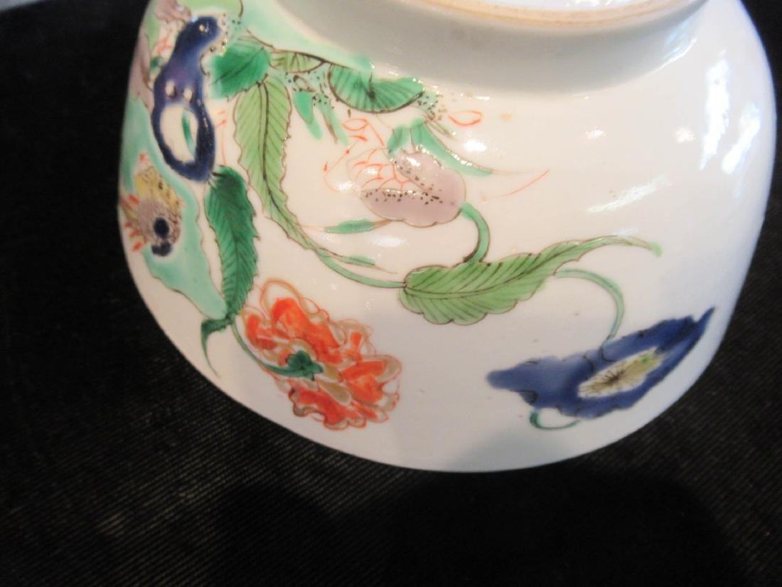 Chinese Famille Verte Porcelain Bowl - 6