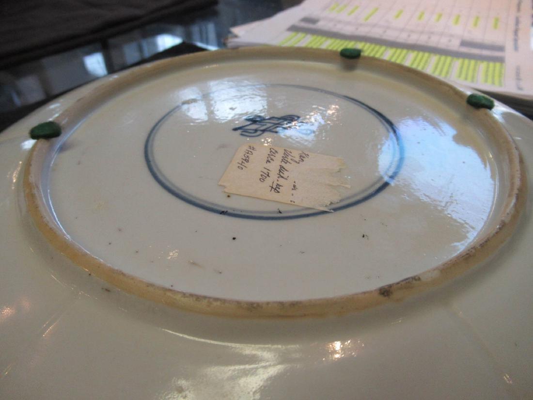 Chinese Famille Verte Porcelain Barbed Rim Dish - 5