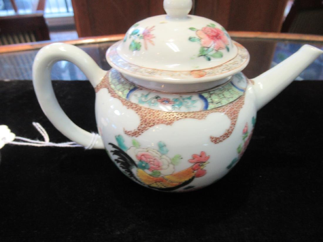 Chinese Famille Rose Porcelain Teapot - 3