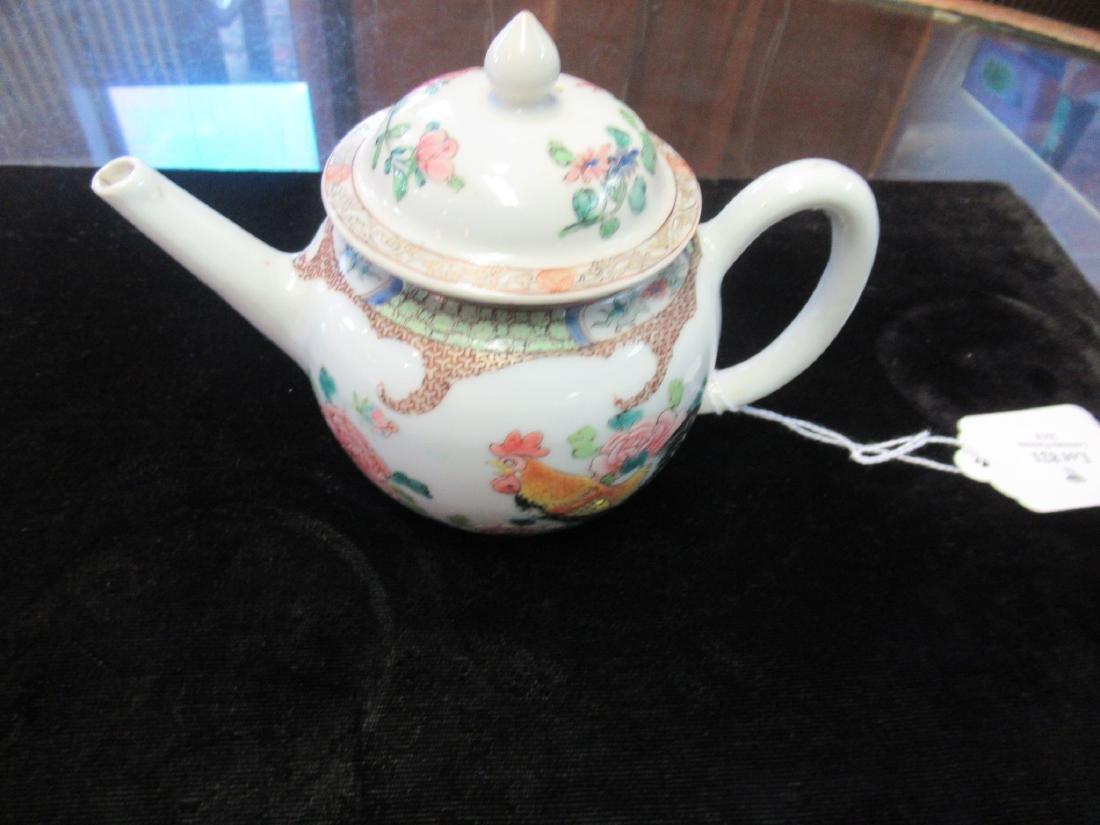 Chinese Famille Rose Porcelain Teapot - 4