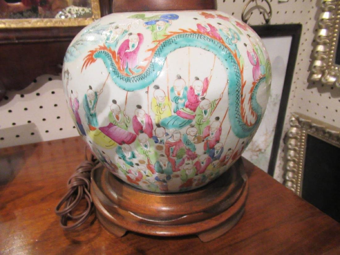 Pair of Chinese Famille Rose Porcelain Jars - 3