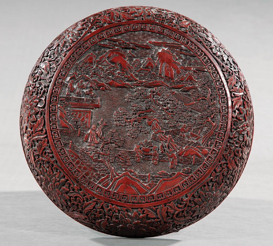 Chinese Red and Black Lacquer Box - 2