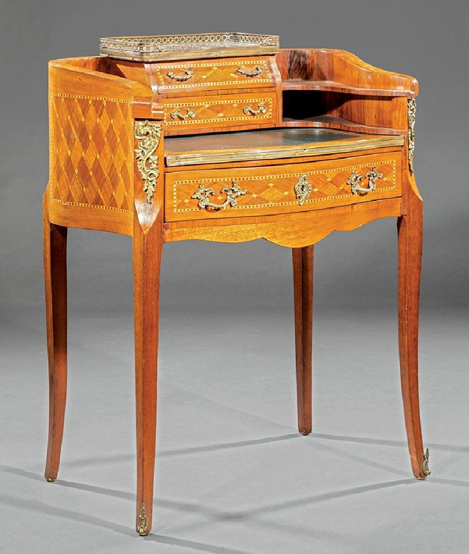 Bronze-Mounted, Parquetry Kingwood Lady's Writing Desk