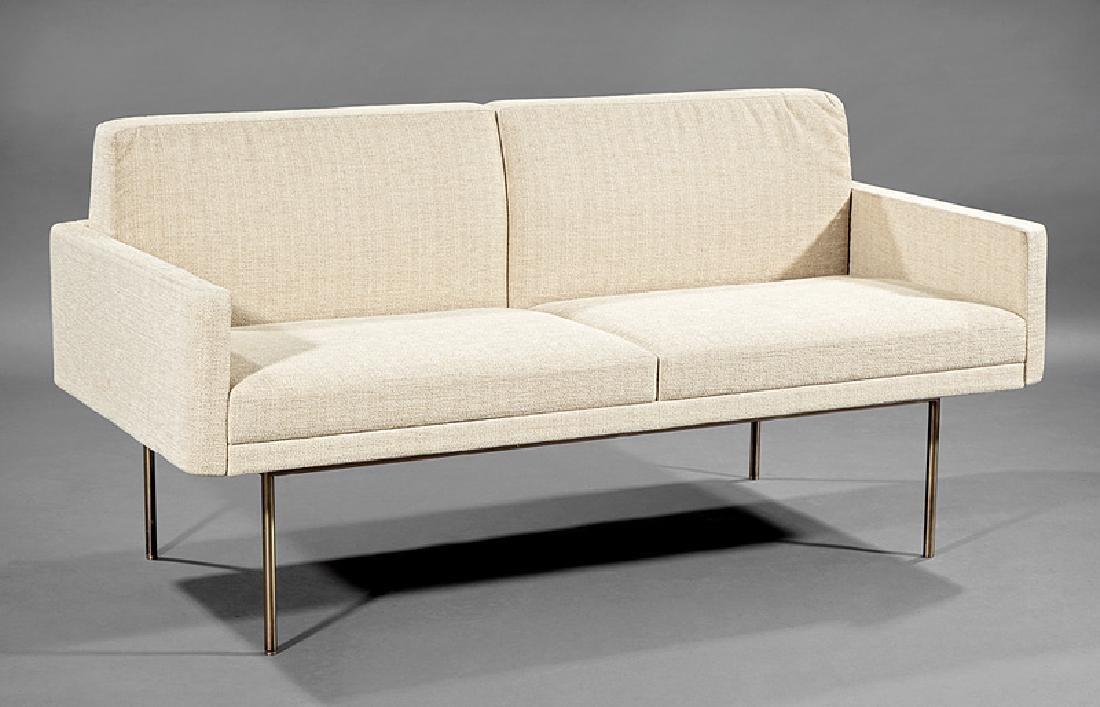 BassamFellows Bronzed Steel and Upholstery Sette