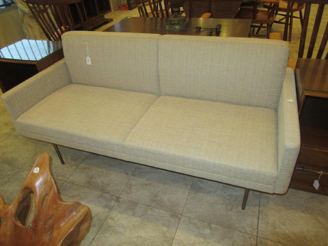 BassamFellows Bronzed Steel and Upholstery Sette - 2