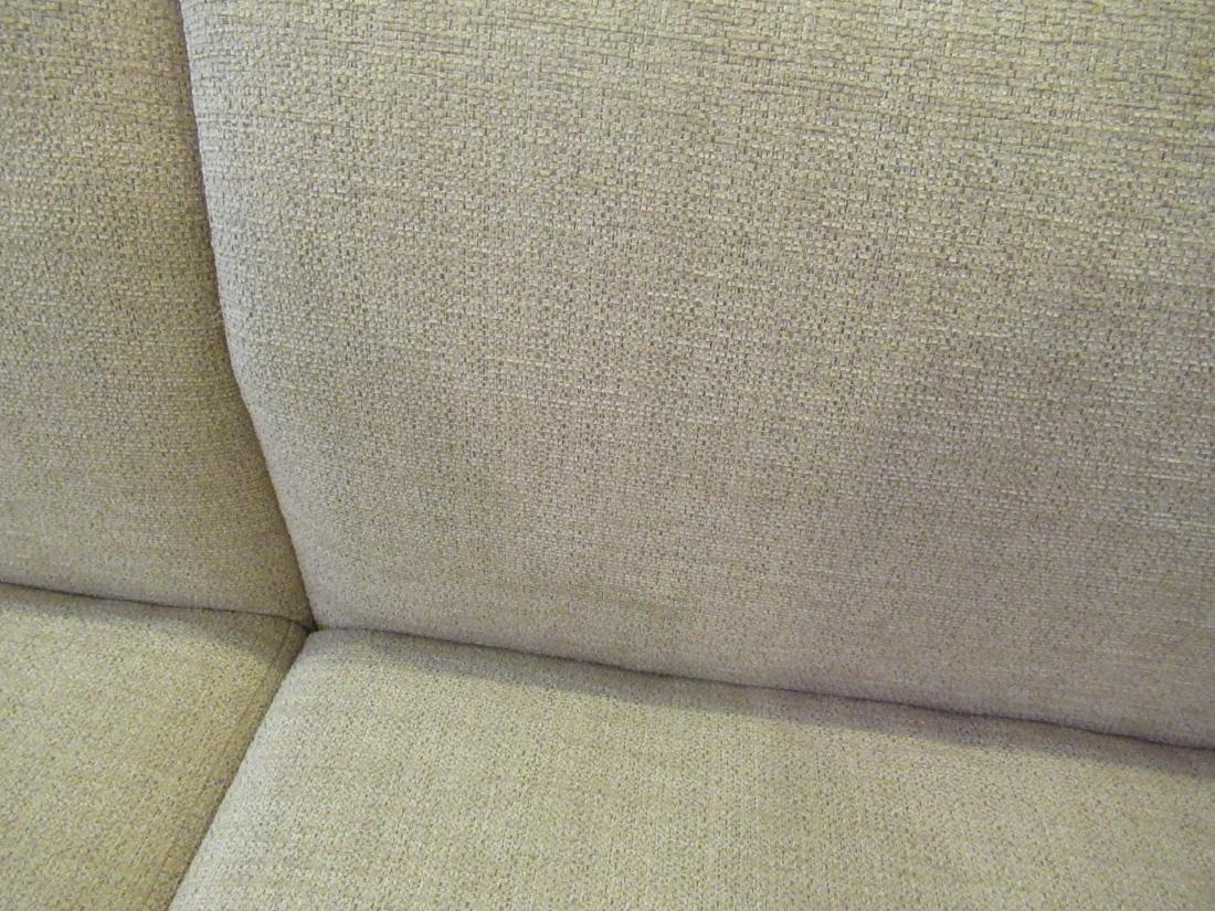 BassamFellows Bronzed Steel and Upholstery Sette - 3