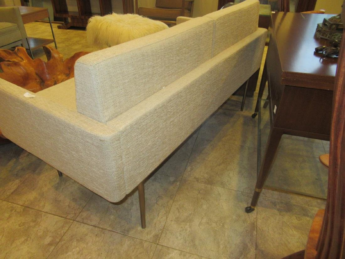 BassamFellows Bronzed Steel and Upholstery Sette - 5