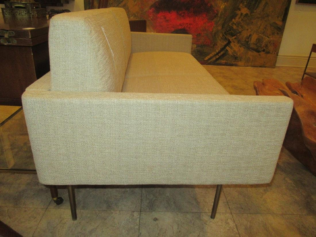 BassamFellows Bronzed Steel and Upholstery Sette - 6