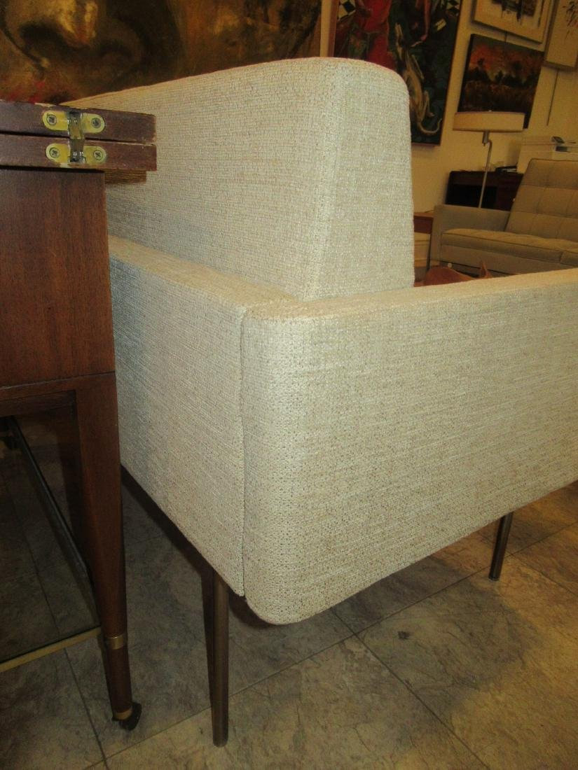BassamFellows Bronzed Steel and Upholstery Sette - 7