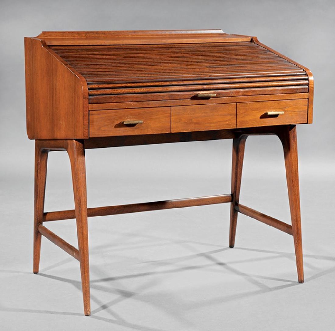 Sligh-Lowry Walnut Roll-Top Desk