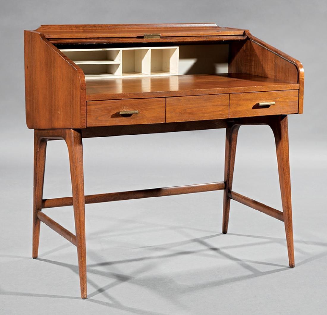 Sligh-Lowry Walnut Roll-Top Desk - 2