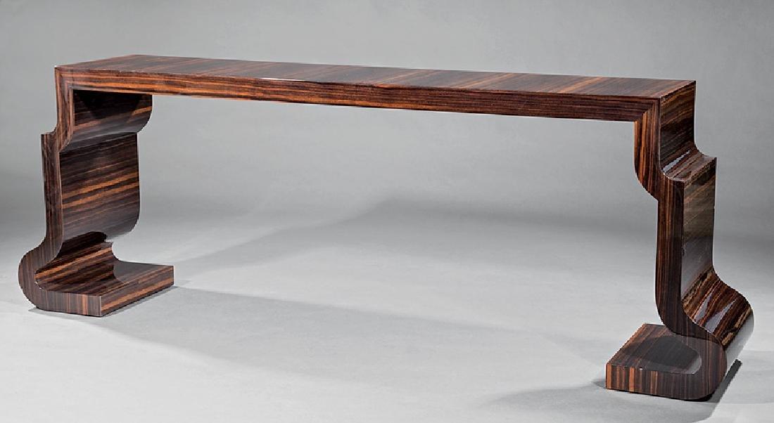 Lee Ledbetter Macassar Wood Veneered Console Table