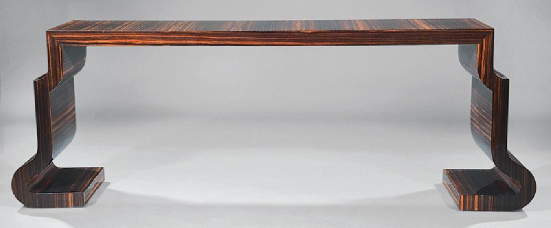 Lee Ledbetter Macassar Wood Veneered Console Table - 2
