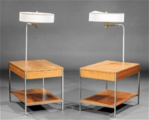 George Nelson (1908-1986) End Tables, Integral Lamps