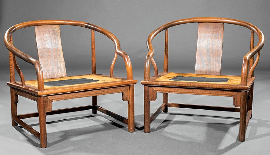 Chinese Hardwood Continuous Round Back Archairs - 3