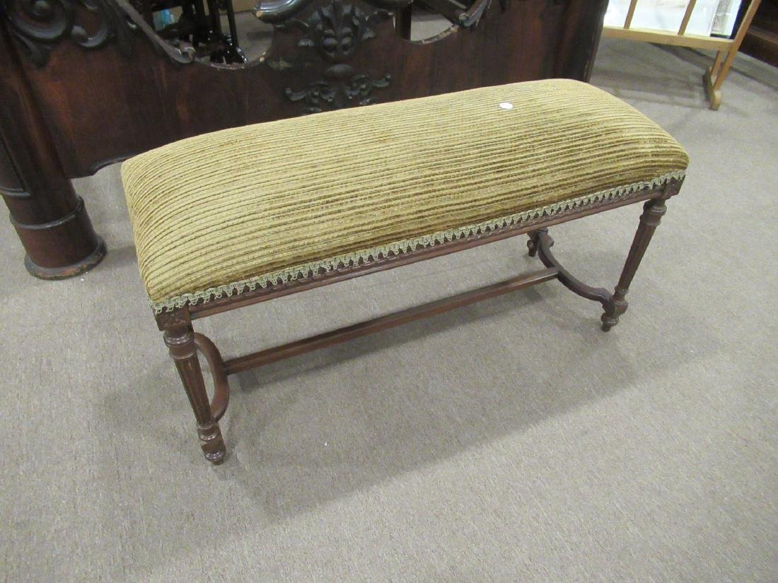 Louis XVI-Style Carved Mahogany Window Bench - 2