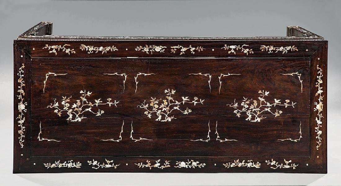 Chinese Mother-of-Pearl Inlaid Hardwood Table - 2