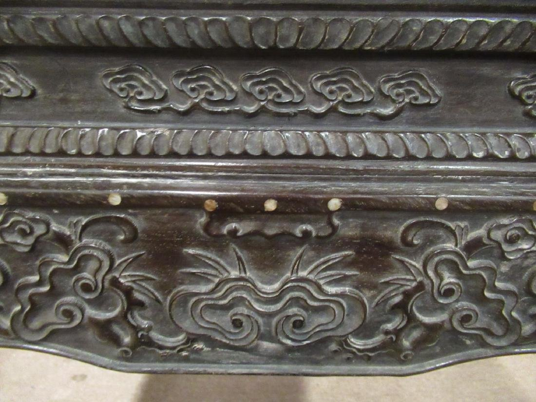 Chinese Mother-of-Pearl Inlaid Hardwood Table - 5