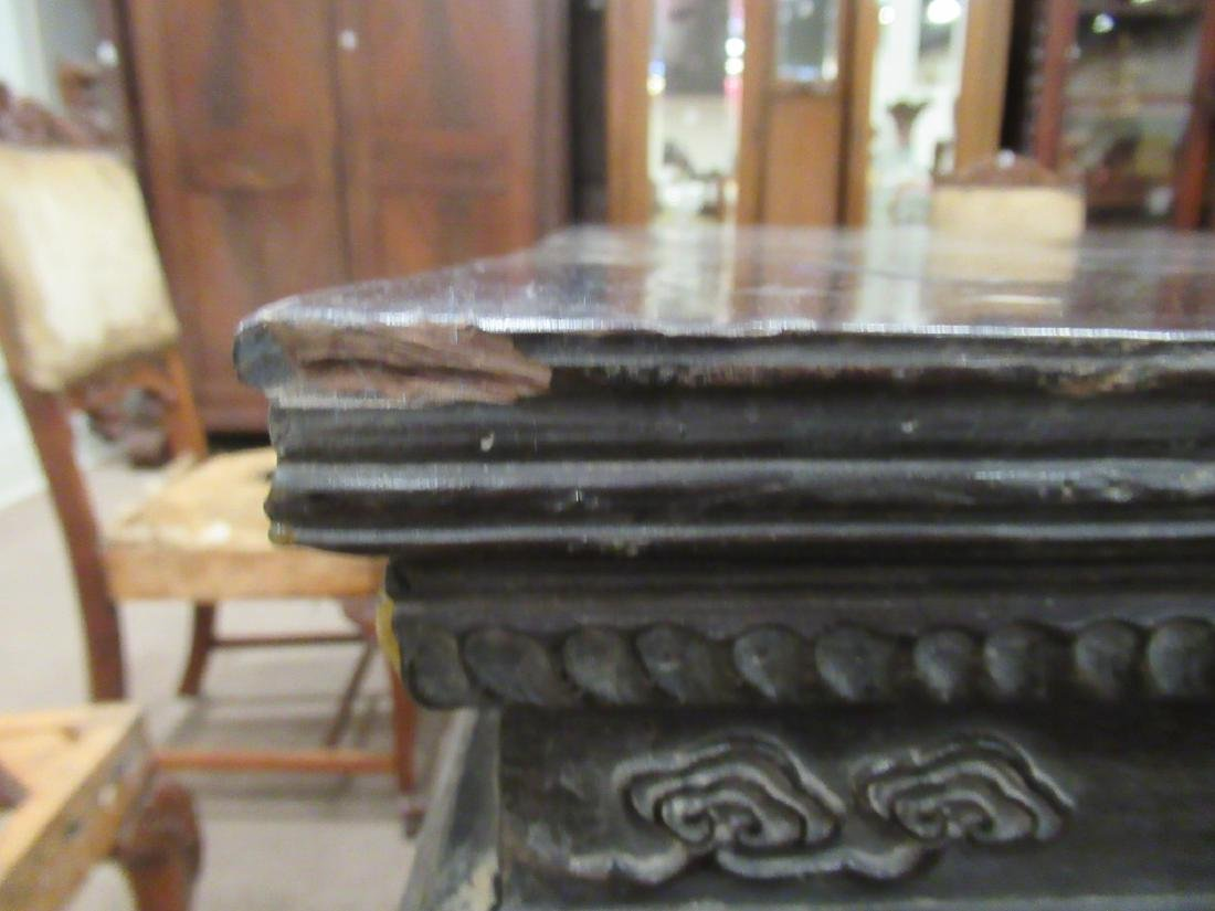 Chinese Mother-of-Pearl Inlaid Hardwood Table - 8