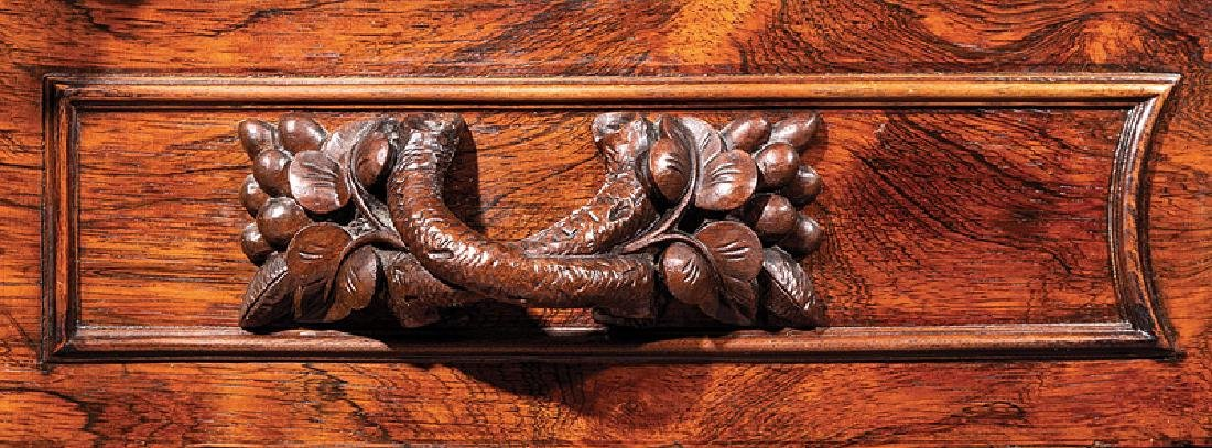 American Rococo Carved and Grained Rosewood Dresser - 3