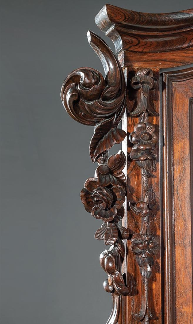 American Rococo Carved and Grained Rosewood Dresser - 6