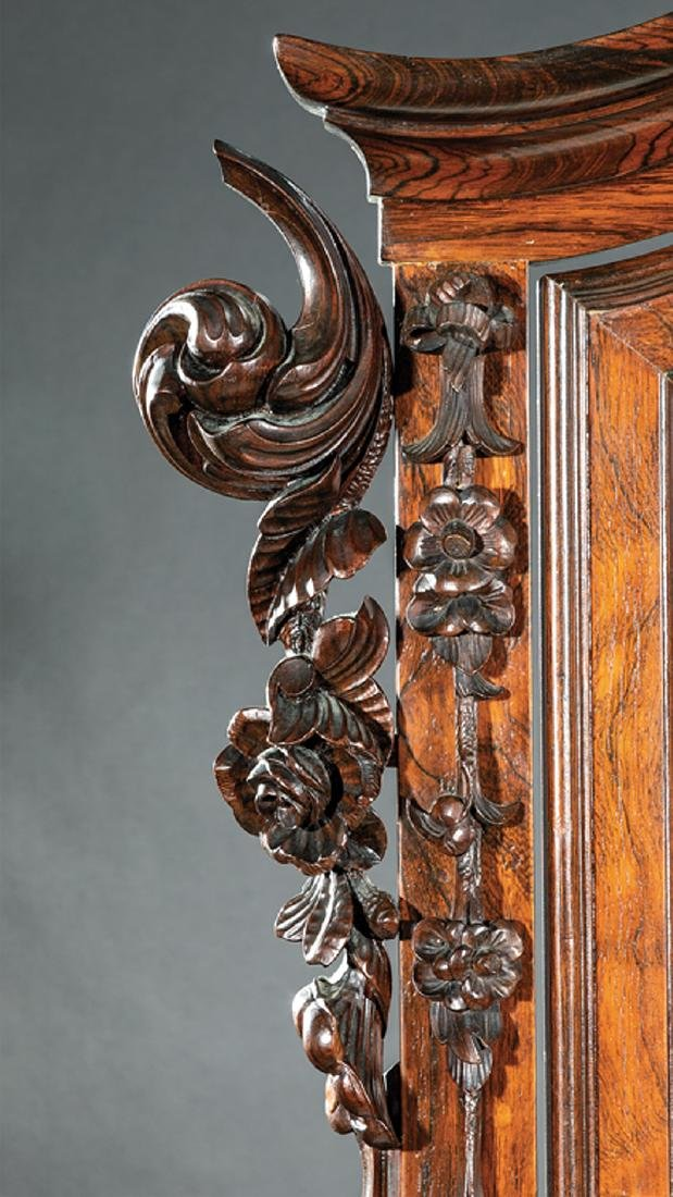 American Rococo Carved and Grained Rosewood Dresser - 7