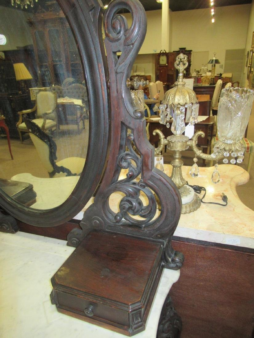 Carved and Grained Rosewood Dressing Table - 5