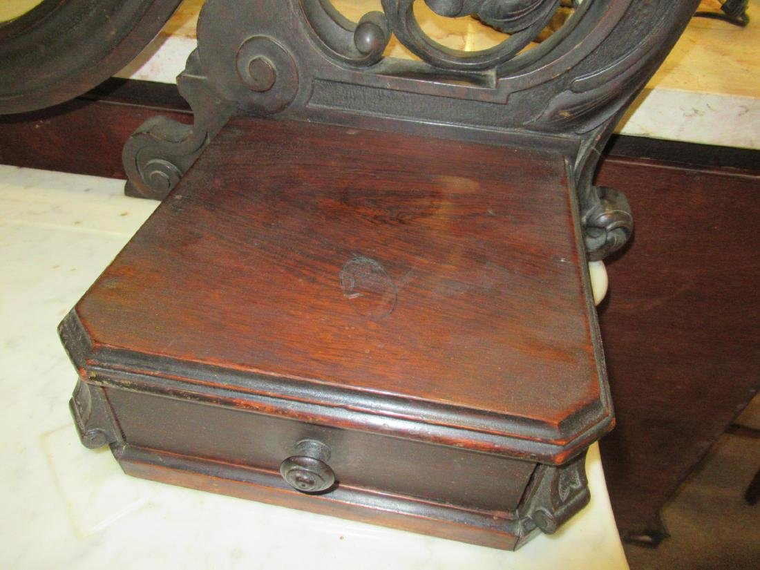 Carved and Grained Rosewood Dressing Table - 6