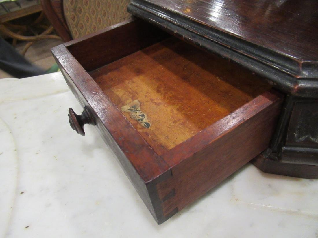 Carved and Grained Rosewood Dressing Table - 8