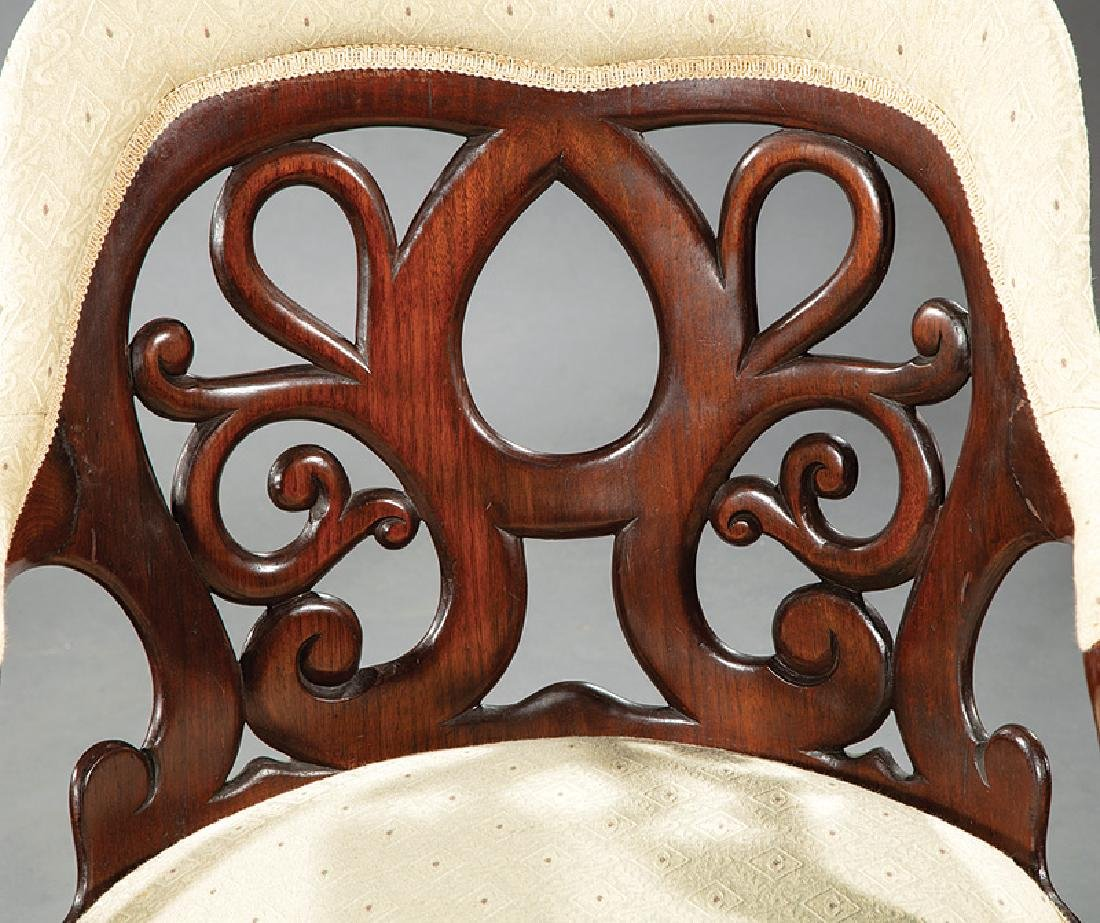 Carved and Laminated Rosewood Dining Chairs, Belter - 3