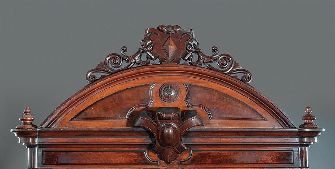 American Renaissance Carved Walnut Bookcase - 3