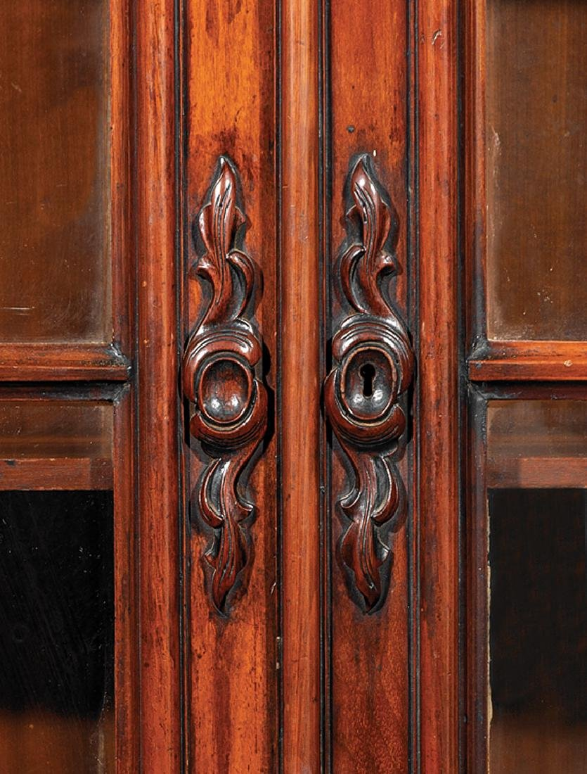 American Renaissance Carved Walnut Bookcase - 4