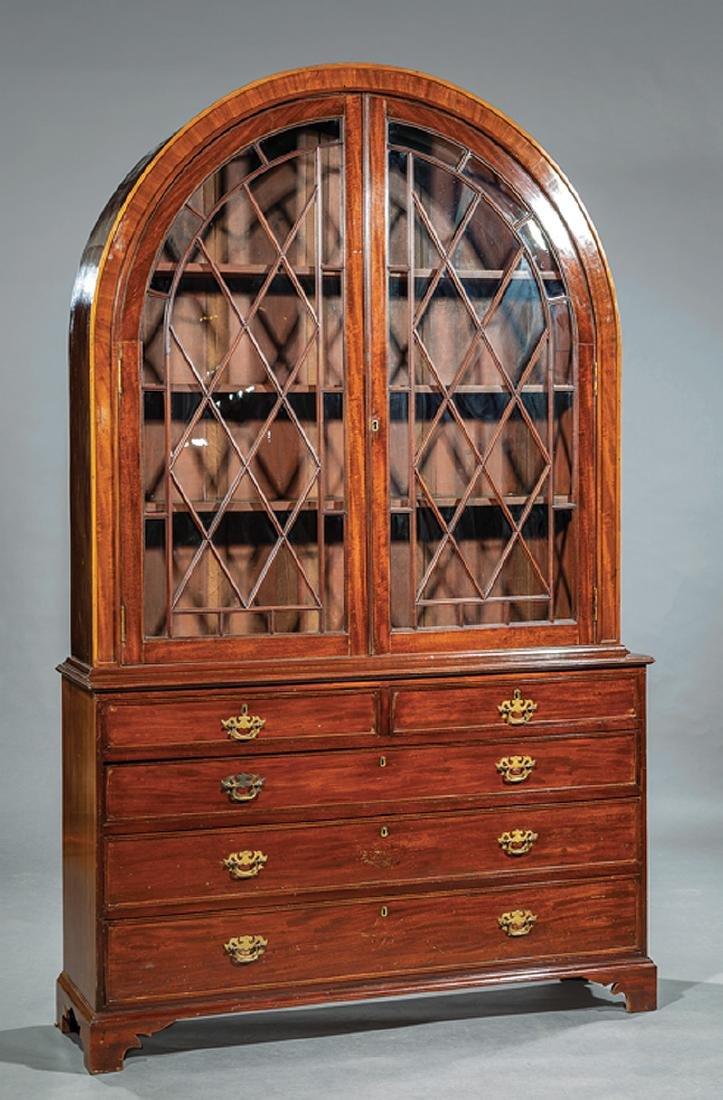 George III-Style Mahogany Bookcase