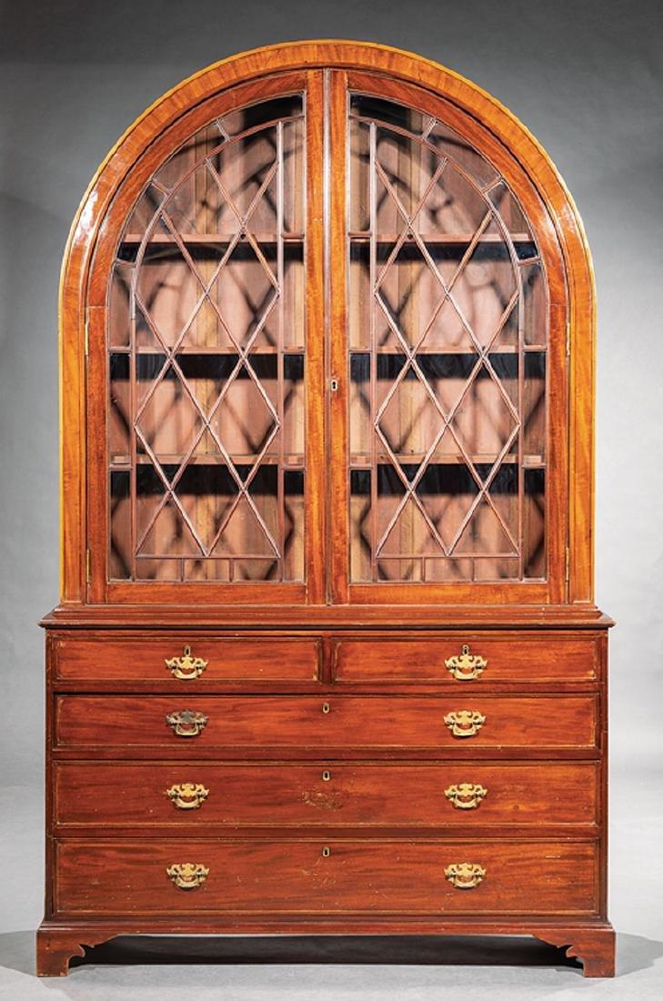 George III-Style Mahogany Bookcase - 2
