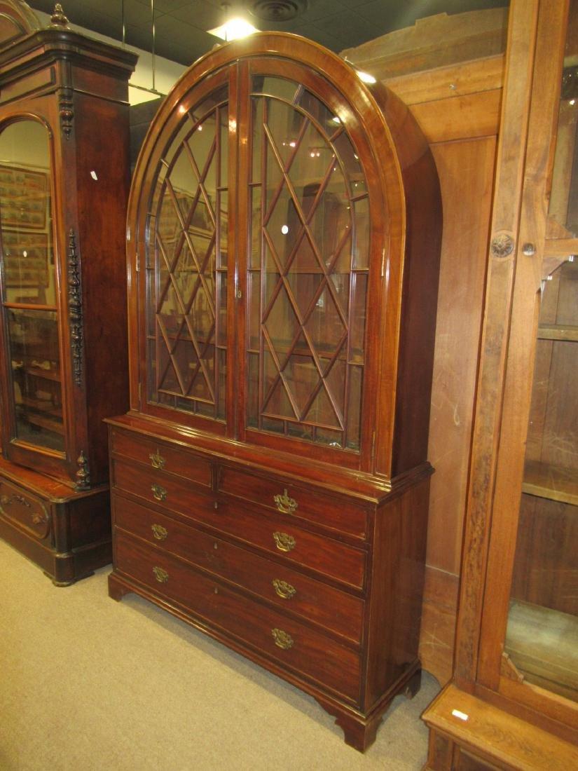 George III-Style Mahogany Bookcase - 3