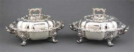 Thomas Bradbury  Sons Silverplate Entre Dishes