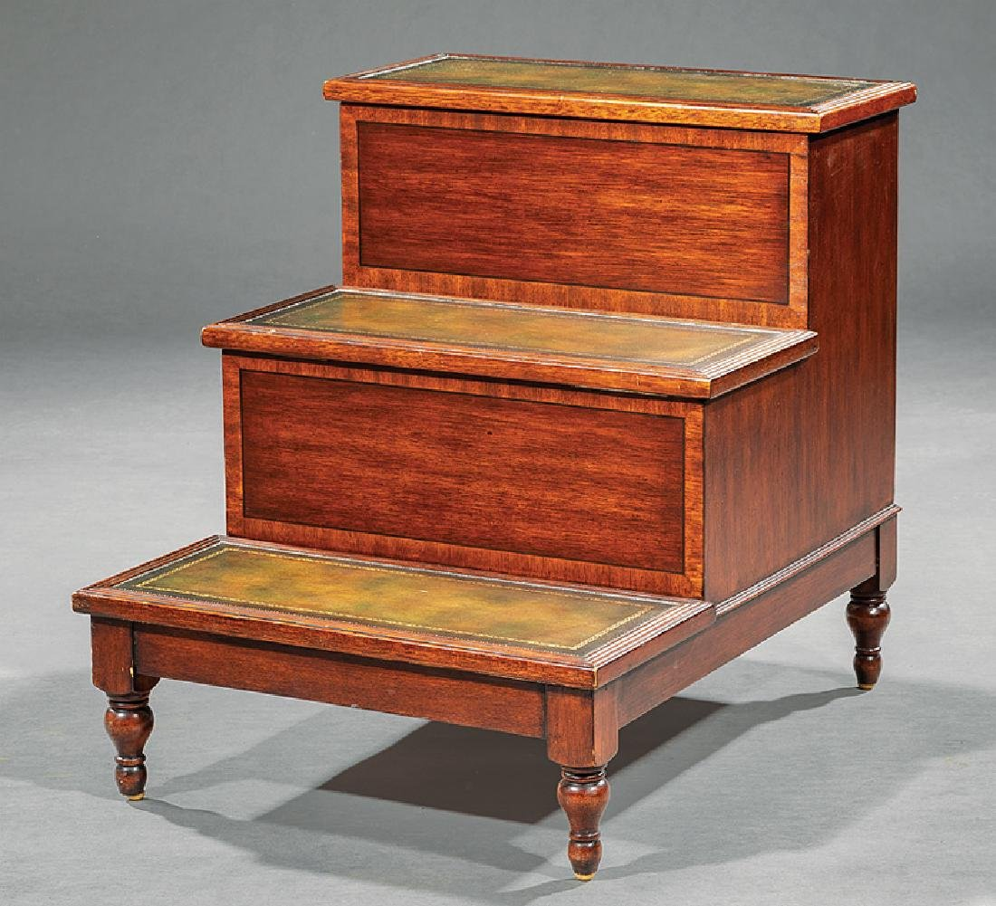 William IV-Style Carved Mahogany Bedsteps