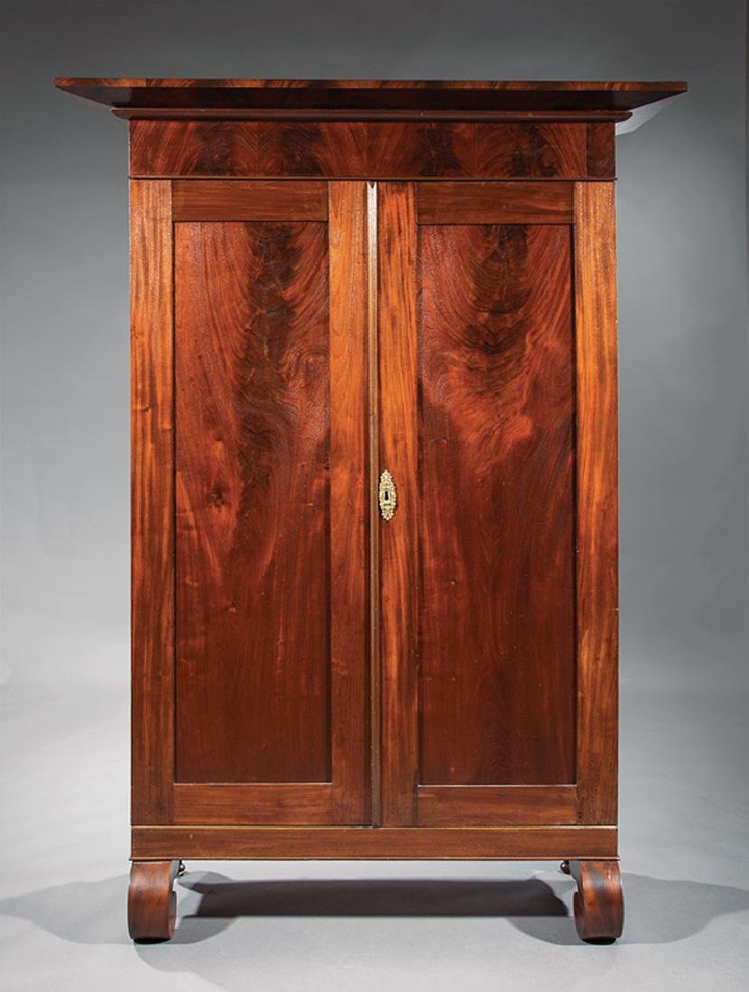 Southern Late Classical Figured Mahogany Armoire - 2