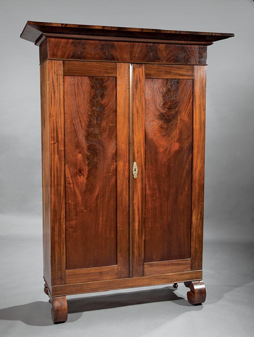 Southern Late Classical Figured Mahogany Armoire - 4