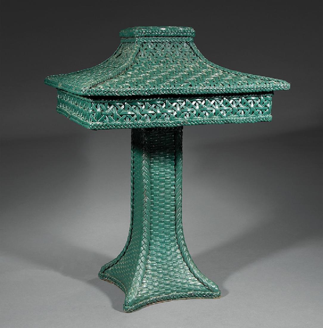 American Wicker Table Lamp, prob. Wakefield