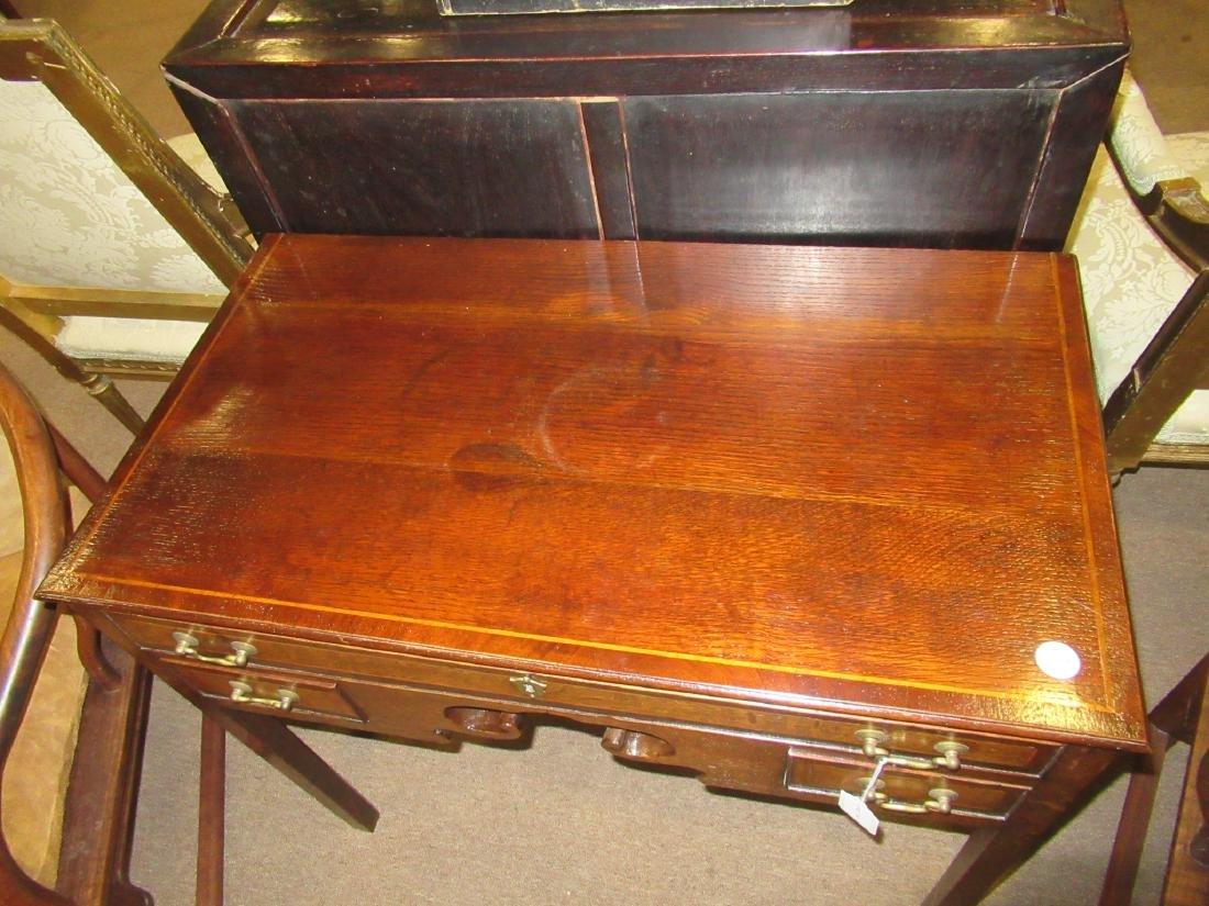 George III-Style Inlaid Oak Lowboy - 3