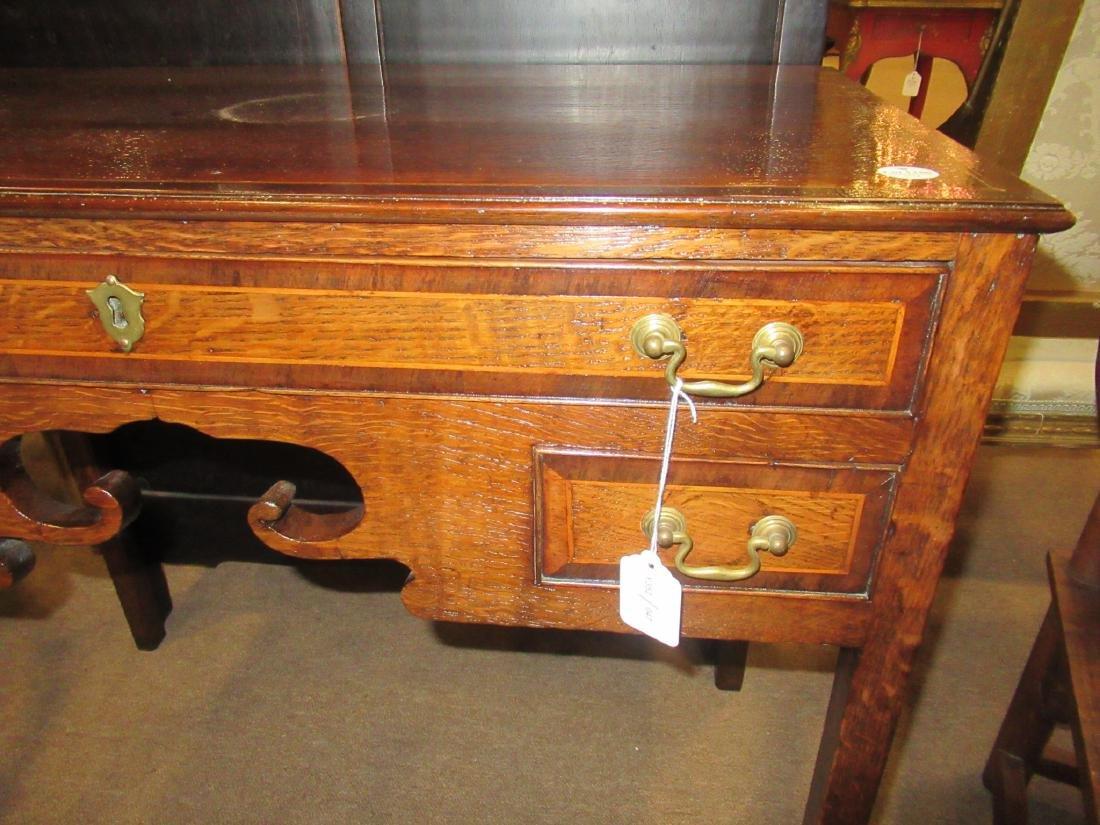 George III-Style Inlaid Oak Lowboy - 4